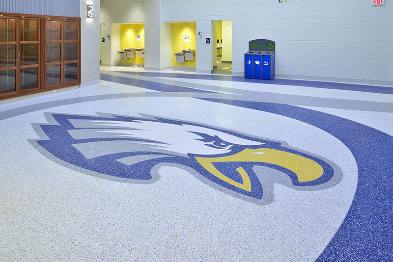 Clover Middle School Terrazzo Marble Supply