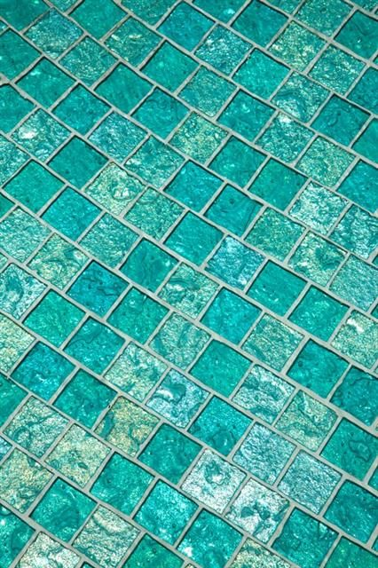 Lightstreams Aquamarine Glass Tile Swimming Pool Floor