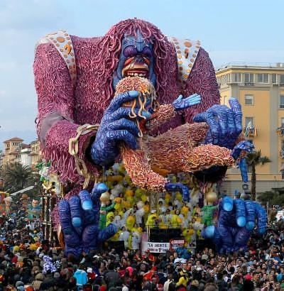 A float at the Carnival of Viareggio