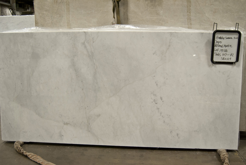 Italian White Carrara Sagro - Polished