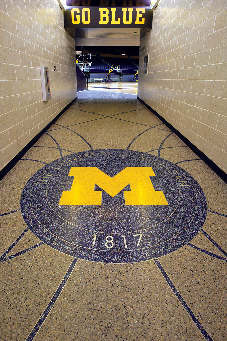 University of Michigan Crisler Center Terrazzo