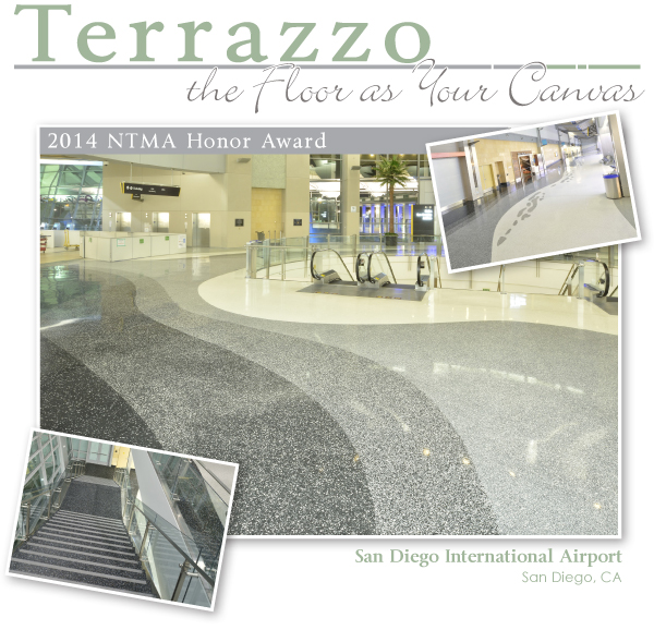 Floor As Your Canvas San Diego Int Airport Terrazzo